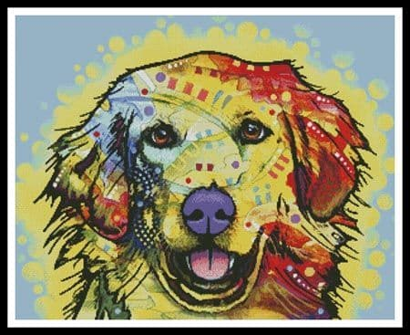 Abstract Golden Retriever by Artecy printed cross stitch chart